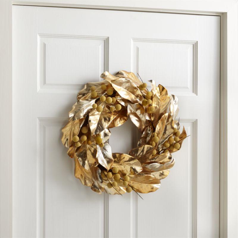 magnolia longan gold wreath