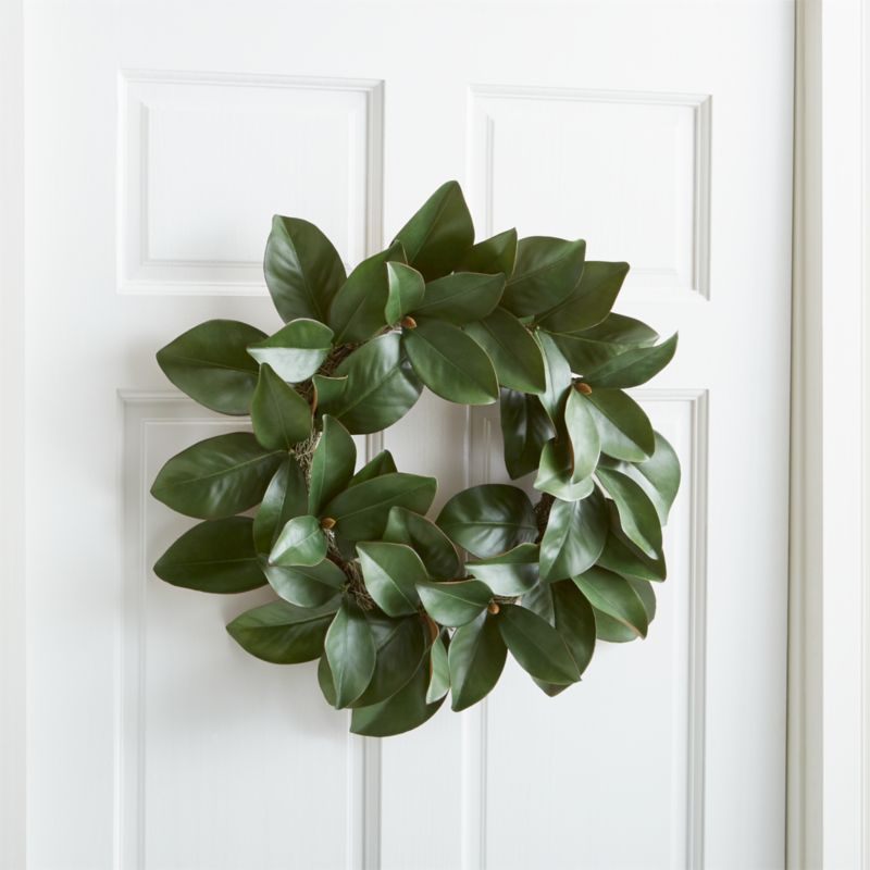 Magnolia Wreath Reviews Crate And Barrel