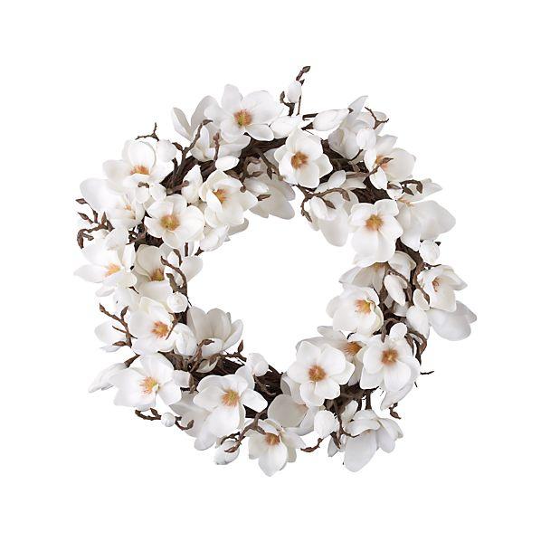 Magnolia Artificial Flower Wreath