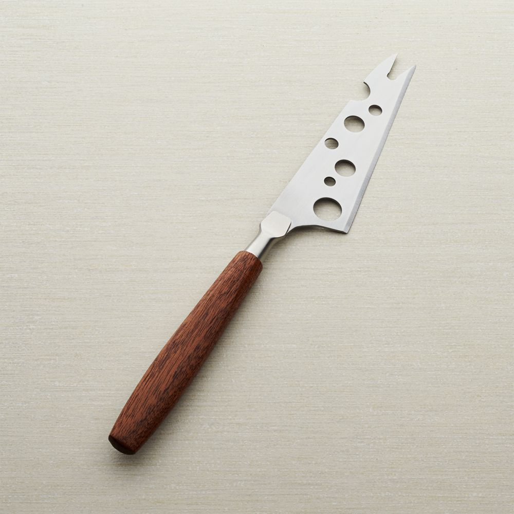 Mahogany Handle Cheese Knife - Crate and Barrel