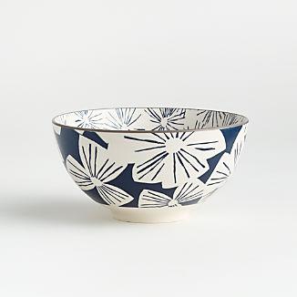 """Mai 6"""" Blue Floral Bowl"""