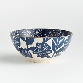 """Mai 7.5"""" Blue Floral Bowl"""
