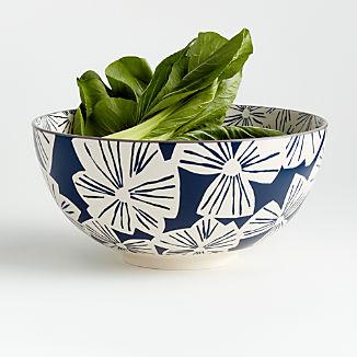 """Mai 9.5"""" Blue Floral Bowl"""
