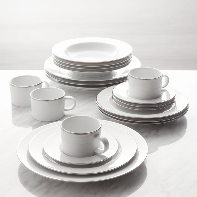 Maison Platinum Rim 20 Piece Dinnerware Set Reviews