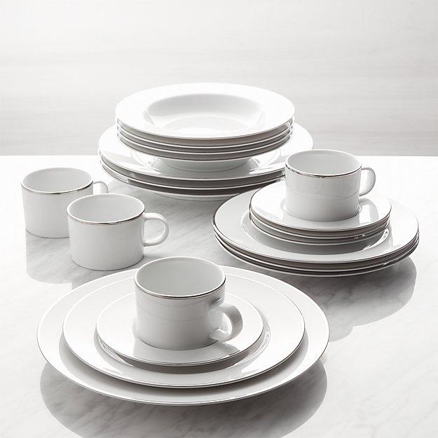 Maison Platinum Rim 20-Piece Dinnerware Set - Image 1 of 2