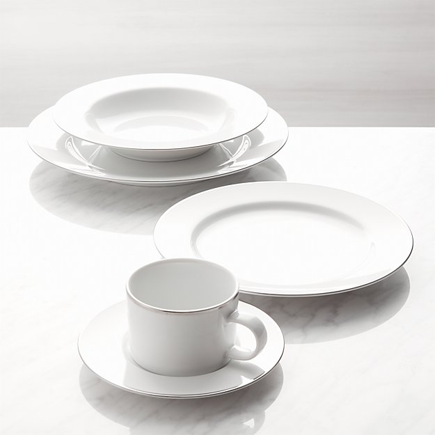 Maison Platinum Rim 5-Piece Place Setting