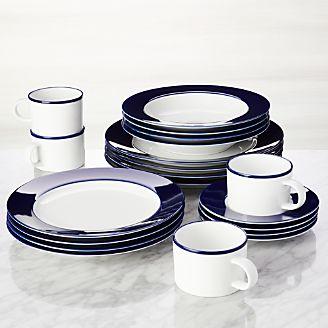 Maison Cobalt Blue 20-Piece Dinnerware Set
