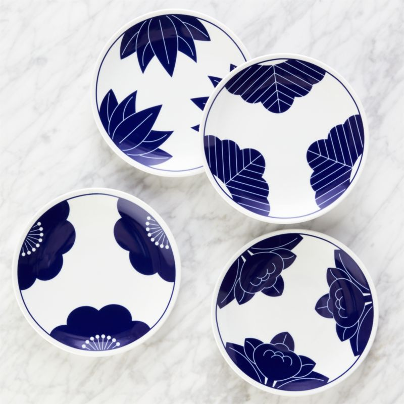 Maison Cobalt Blue Dessert Plates Set Of 4 Reviews