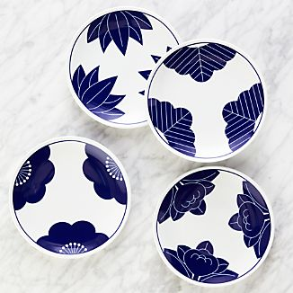 Set of 4 Maison Cobalt Blue Dessert Plates