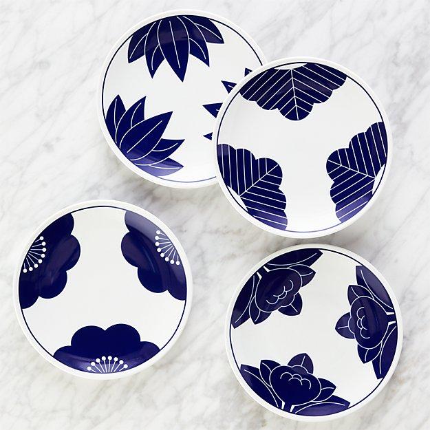Maison Cobalt Blue Dessert Plates, Set of 4 - Image 1 of 2