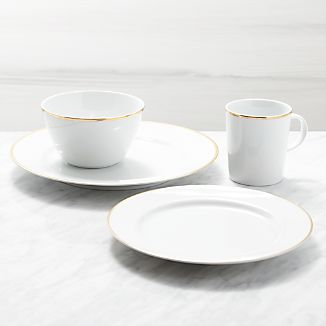 Maison Gold Rim 4-Piece Place Setting