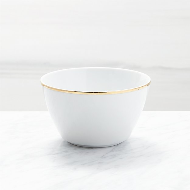 Maison Gold Rim Cereal Bowl