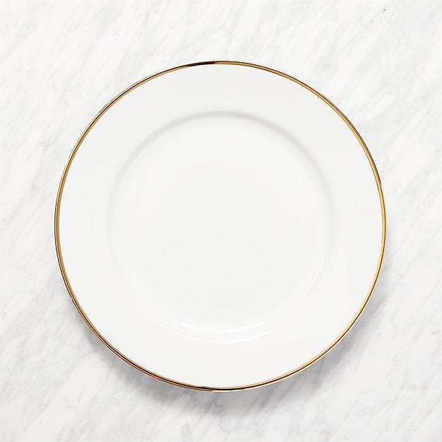 Maison Gold Rim Dinner Plate - Image 1 of 2
