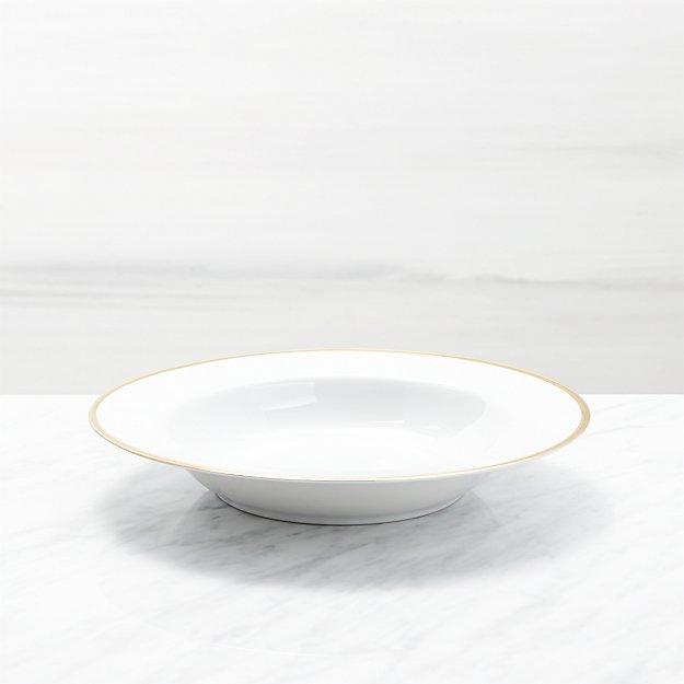 Maison Gold Rim Low Bowl