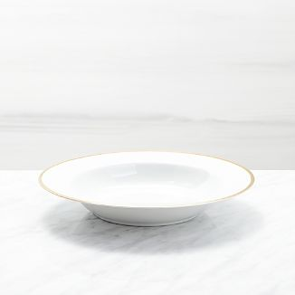Maison Gold Rim Low Bowl