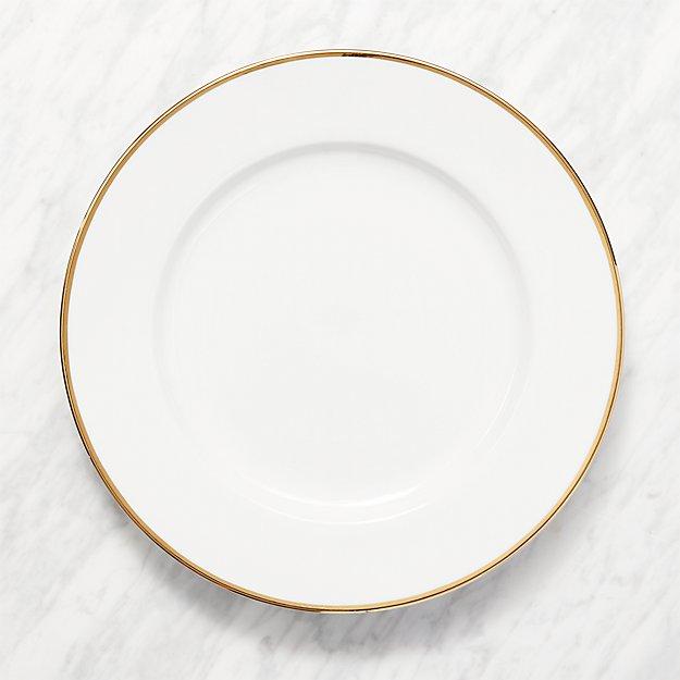 Maison Gold Rim Round Platter
