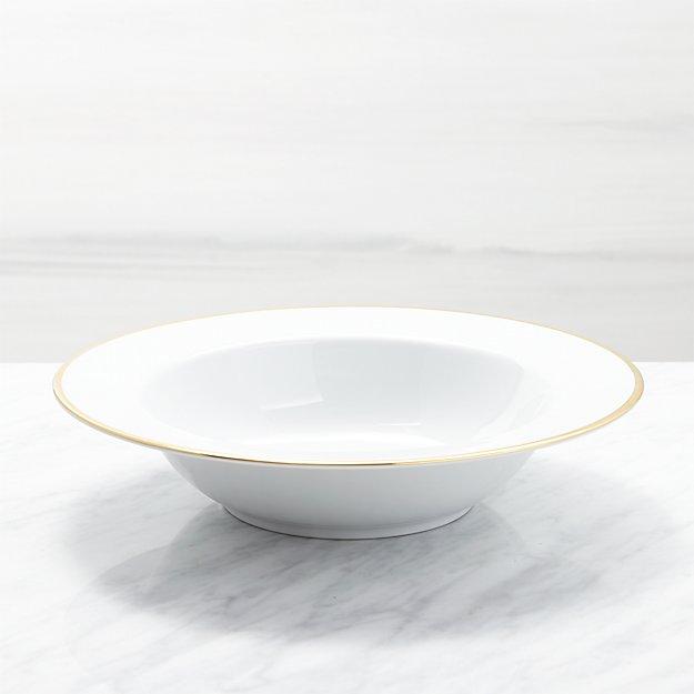 Maison Gold Rim Serving Bowl - Image 1 of 2