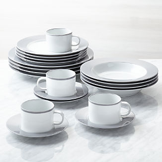 Dinnerware Sets Stoneware Glass More Crate And Barrel