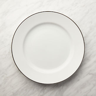Maison Platinum Rim Dinner Plate