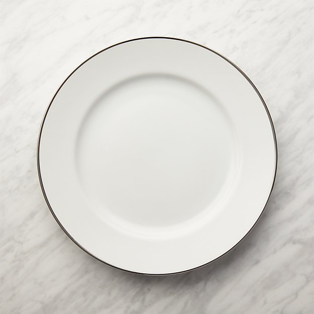 Maison Platinum Rim Dinner Plate - Image 1 of 8