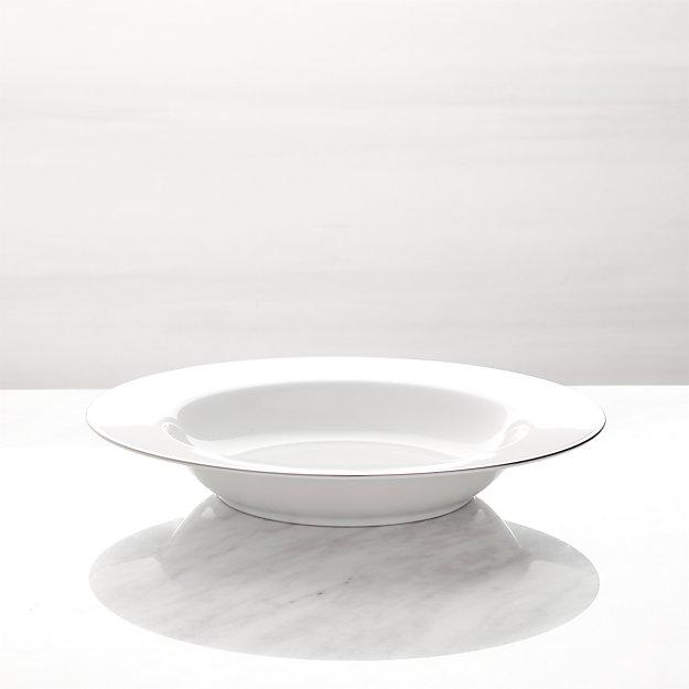 Maison Platinum Rim Low Bowl