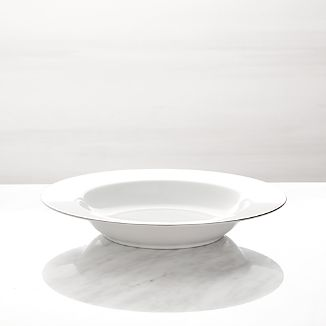 Maison Platinum Rim Low Bowl