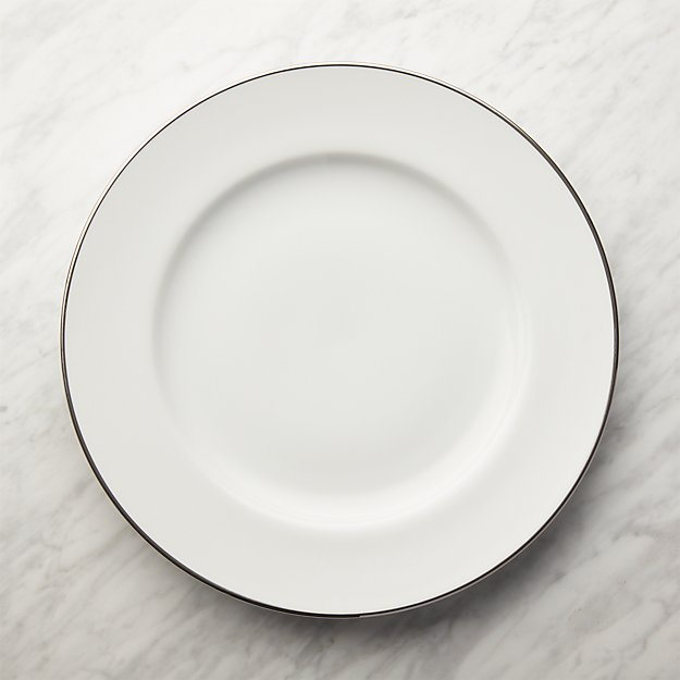 Maison Platinum Rim Round Platter - Image 1 of 3