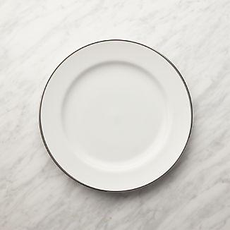 Maison Platinum Rim Salad Plate