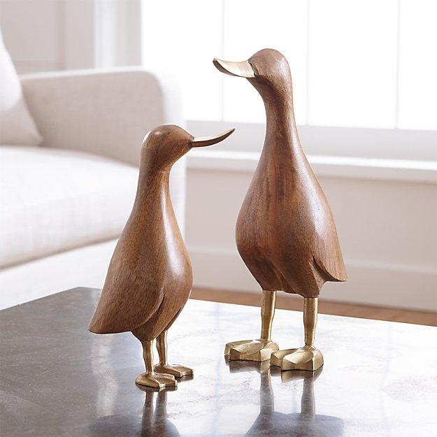 Wood Mallard Ducks