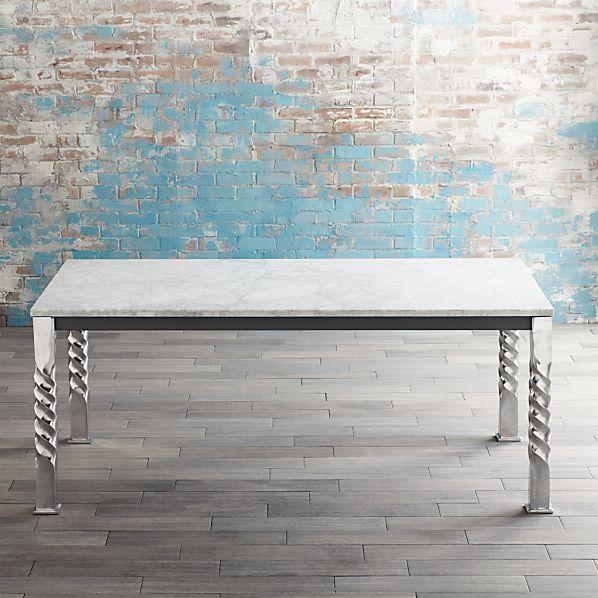 Mallorca Rectangular Marble Top Dining Table