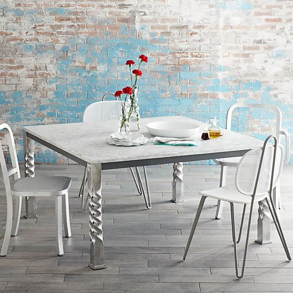 Mallorca Square Marble Top Dining Table