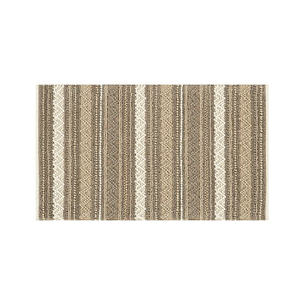 Mallory Neutral Striped Wool 3'x5' Rug