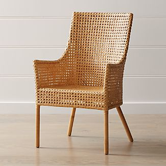 Maluku Natural Rattan Dining Arm Chair