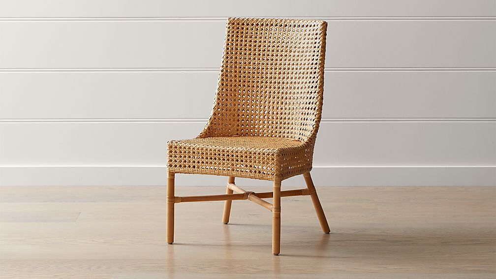 Maluku Natural Rattan Dining Side Chair Reviews Crate And Barrel
