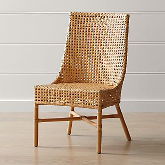 Charmant Maluku Natural Rattan Dining Side Chair