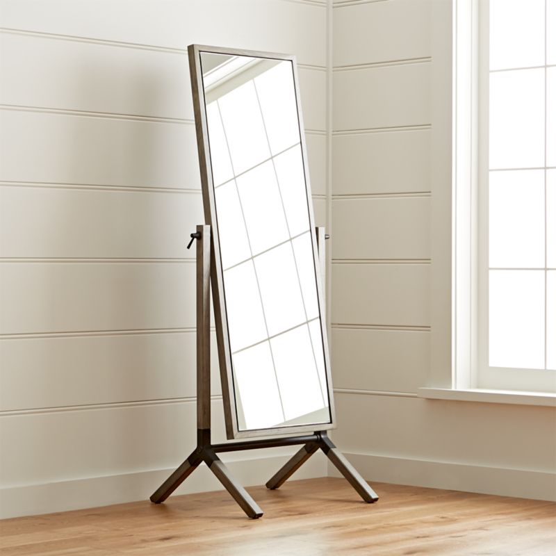 Bathroom Mirrors Crate And Barrel malvern cheval floor mirror | crate and barrel