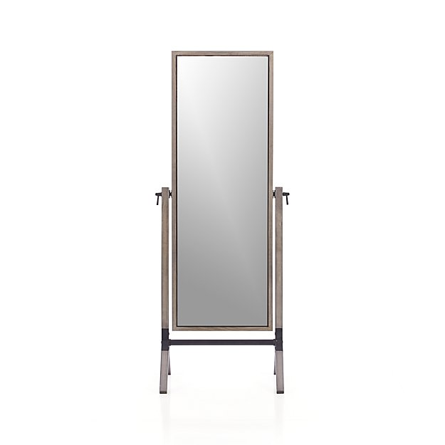 Malvern Grey Cheval Floor Mirror Reviews Crate And Barrel