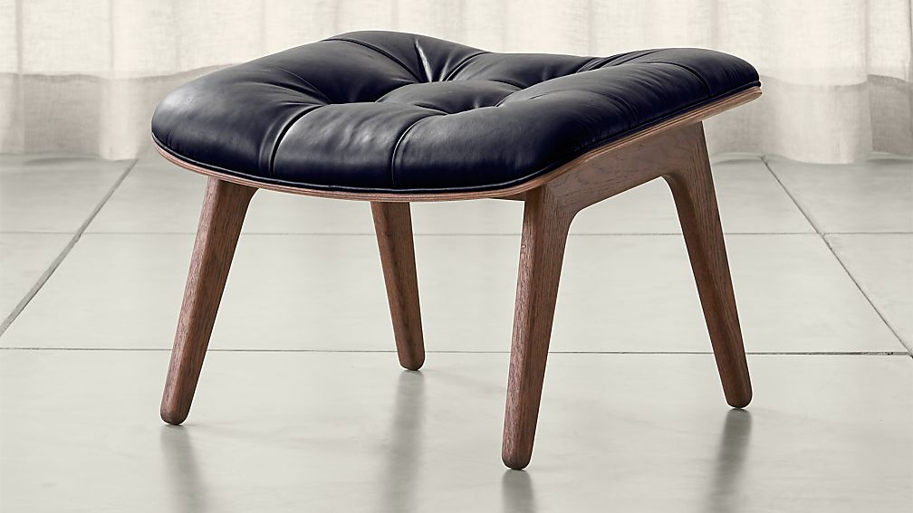 Mammoth Leather Ottoman - Image 1 of 8