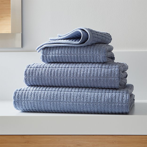 Manhattan Blue Bath Towels