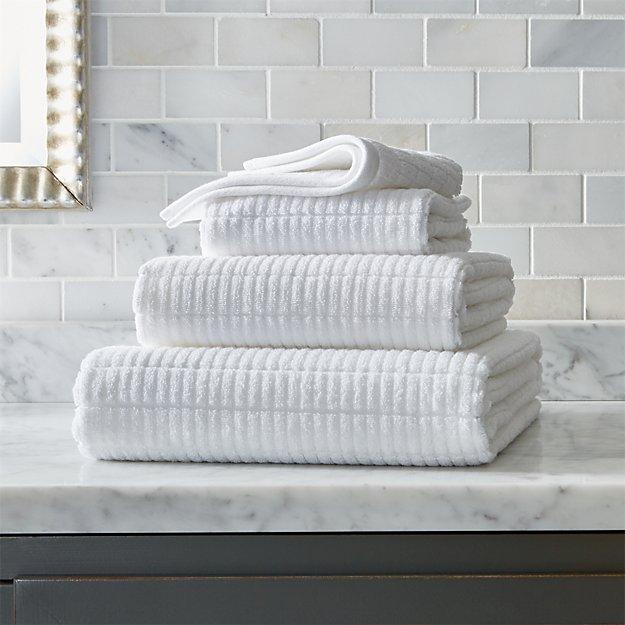 Manhattan White Bath Towels