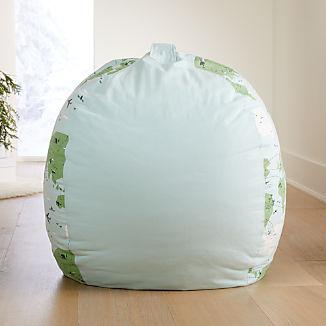 Large Map Bean Bag Chair