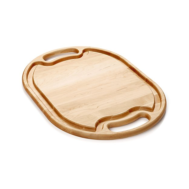 Wooden meat carving board crate and barrel