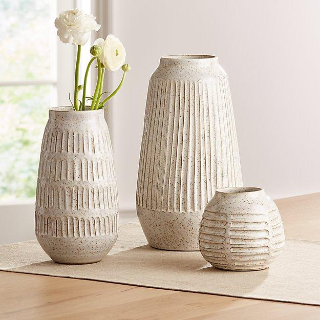 Mara Cream Vases - Image 1 of 13