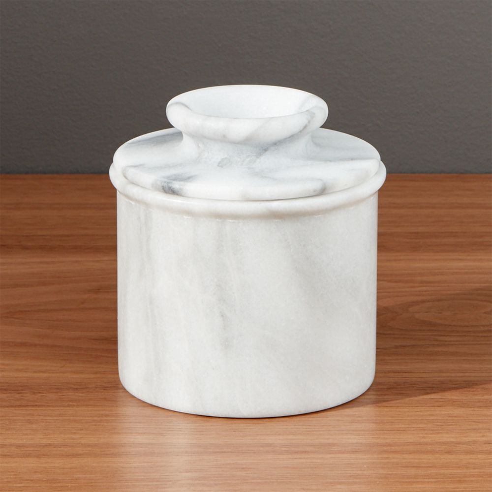 French Kitchen Marble Butter Keeper - Crate and Barrel