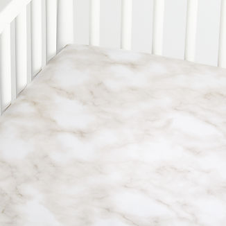Organic Marble Crib Fitted Sheet