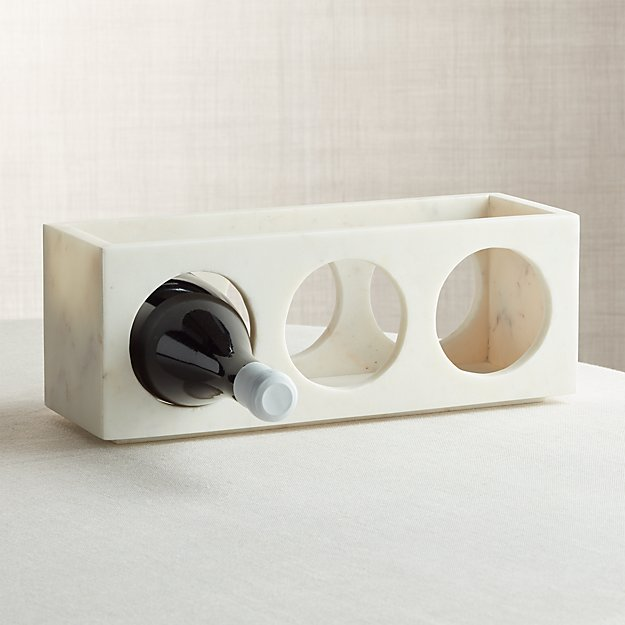 Marble Stacking 3 Bottle Wine Rack Reviews Crate And Barrel