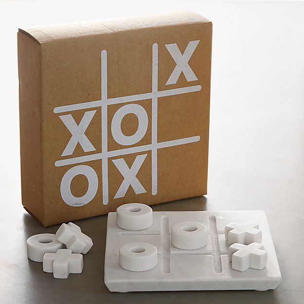 Marble Tic Tac Toe Game Set Crate And Barrel
