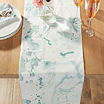 Marbled Aqua Table Runner 90