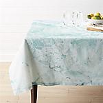 Marbled Aqua Tablecloth 60 x120
