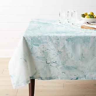 Marbled Aqua Tablecloth
